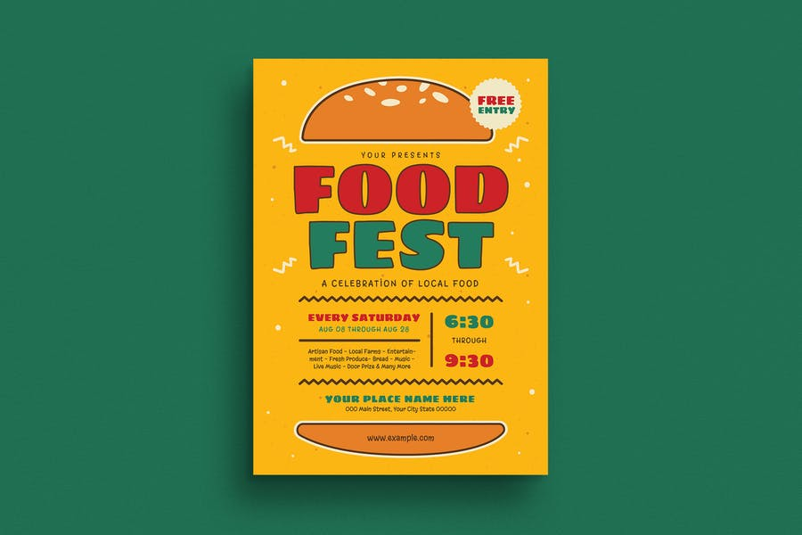 Food Festival Event flyer