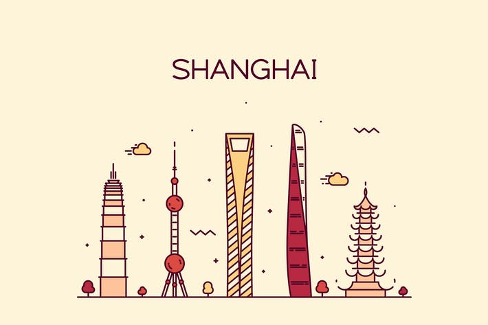 Thumbnail for Shanghai skyline, China