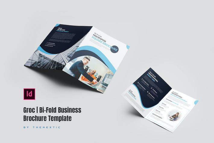 Thumbnail for Groc | Bi-Fold Business Brochure Template