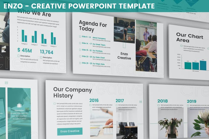 Thumbnail for Enzo - Creative Powerpoint Template