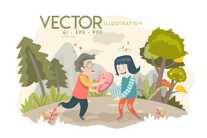 Thumbnail for VALENTINES - Vector Illustration