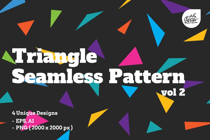 Thumbnail for Triangle Seamless Patterns vol 2