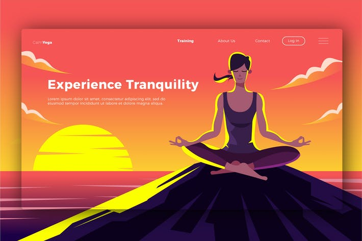 Thumbnail for Yoga - Banner & Landing Page