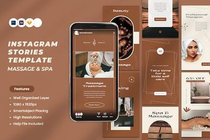 Massage & Spa Instagram Stories