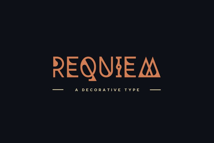 Thumbnail for Requiem Typeface