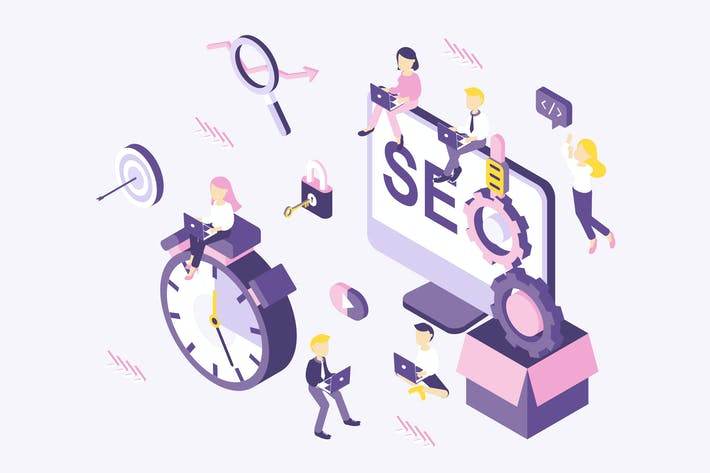 Thumbnail for SEO Optimization Isometric Illustration