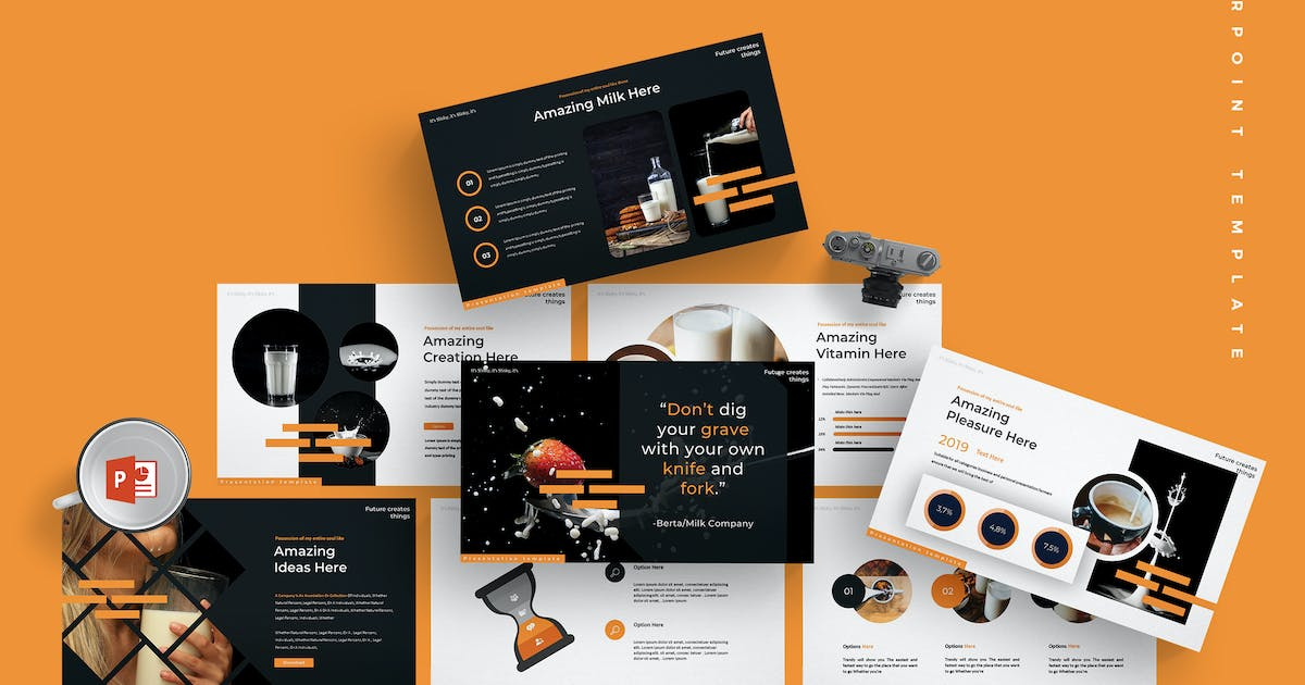 Download Milky - Powerpoint Template by aqrstudio