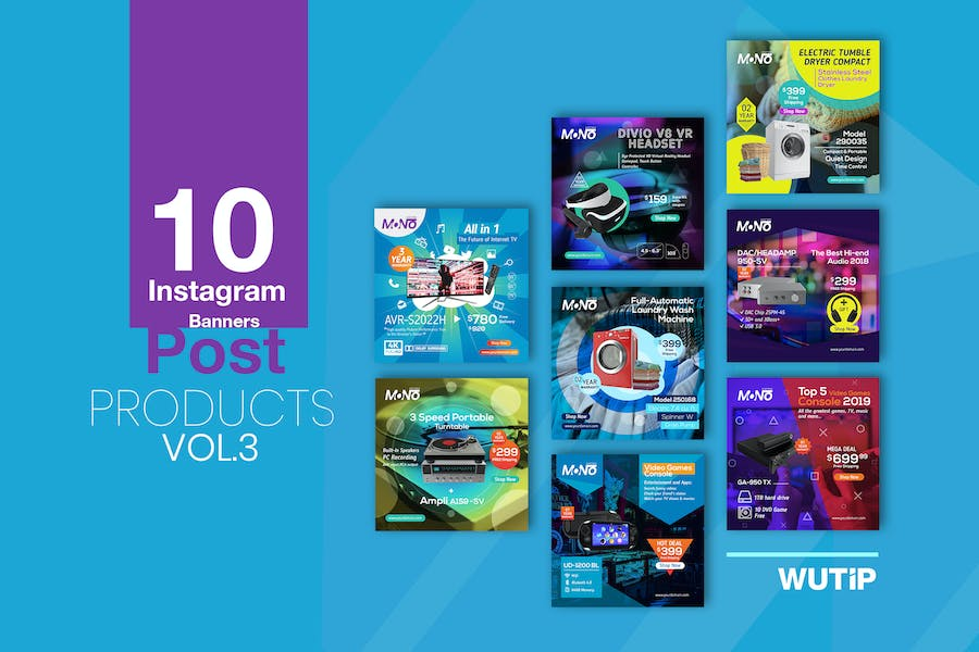 10 Instagram Post Banner-Products Vol 03