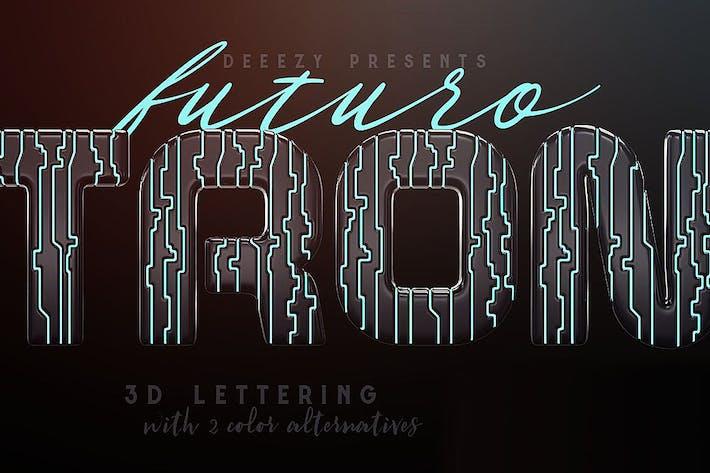 Thumbnail for Tron Futuro – 3D Lettering
