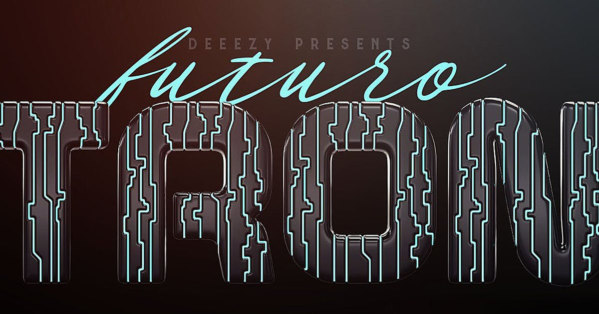 Download Tron Futuro – 3D Lettering by cruzine