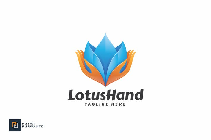 Thumbnail for Lotus Hand - Logo Template