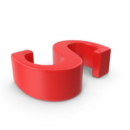 Letra minúscula roja s