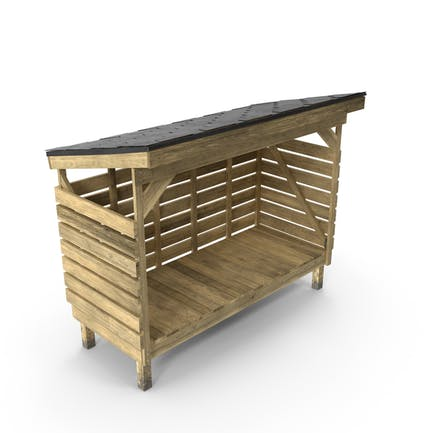 Brennholz-Lagerung
