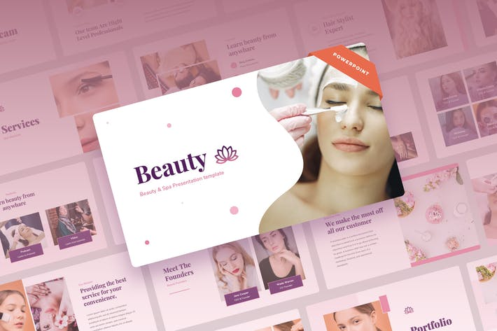 Красота - Презентация Beauty & Spa Power Point