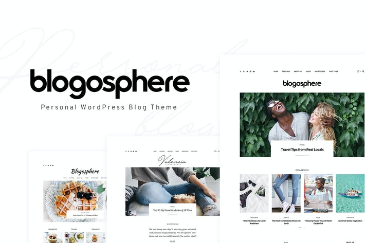 Thumbnail for Blogosphere - Multipurpose Blogging Theme