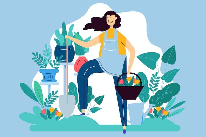 Thumbnail for Gardening Vector Illustration