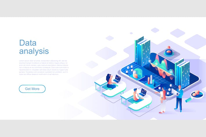 Thumbnail for Data Analysis Isometric Flat Concept Header