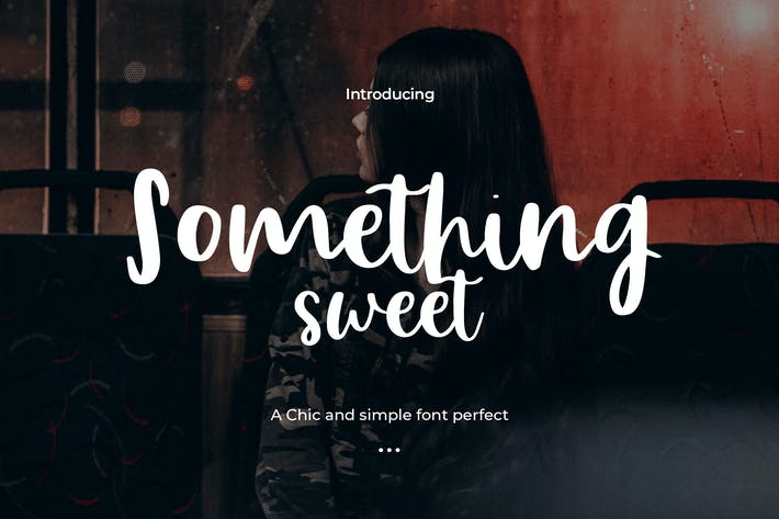 Thumbnail for Somethings Sweet - A Sweet Hand Drawn Typeface