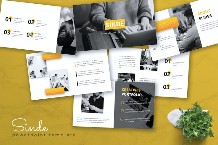 Thumbnail for SINDE - Business Powerpoint Template