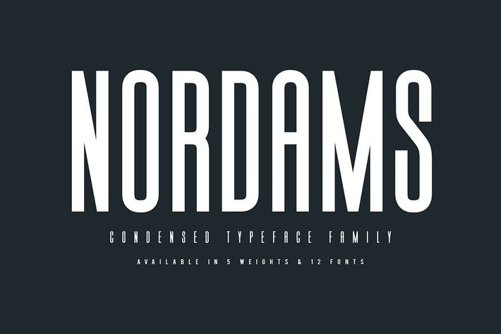 Thumbnail for Nordams Sans Serif