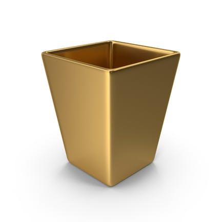 Square Vase Golden