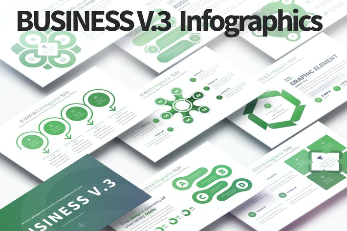 Thumbnail for BUSINESS V.3 - PowerPoint Infographics Slides
