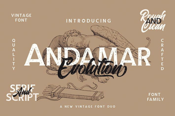 Thumbnail for Andamar Font Family