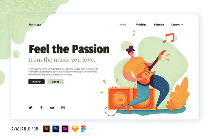 Thumbnail for Music Matters - Flat Illustration
