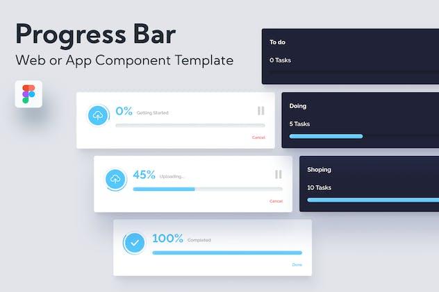 Progress Bar Web or App UI Component