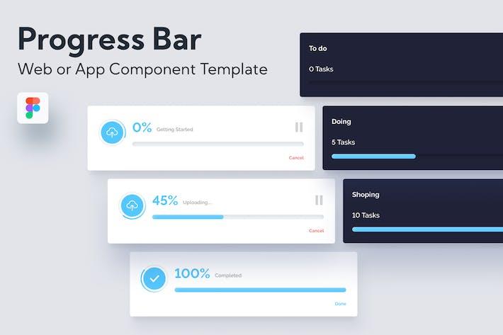Thumbnail for Web- oder App -UI-Komponente der Fortschrittsleiste