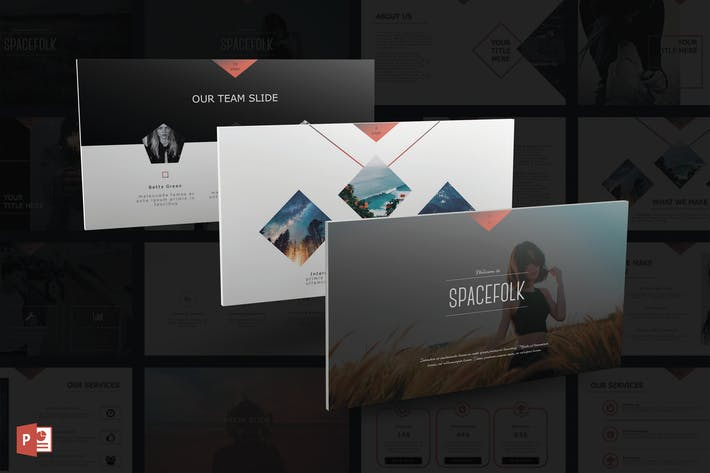 Thumbnail for Spacefolk PowerPoint Template