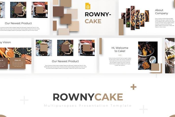 Роуни торт - Шаблон слайдов Google
