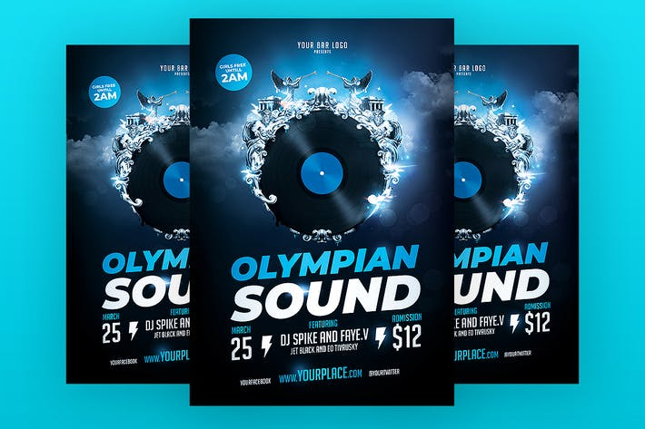 Thumbnail for Olympian Sound Flyer Template
