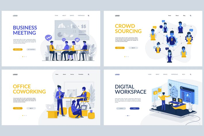 Thumbnail for Business Theme - Landing Page Templates