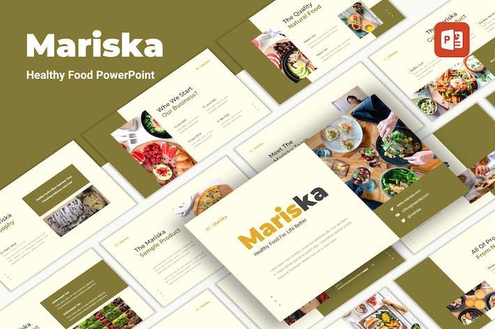 Mariska - Здоровое питание PowerPoint Шаблон