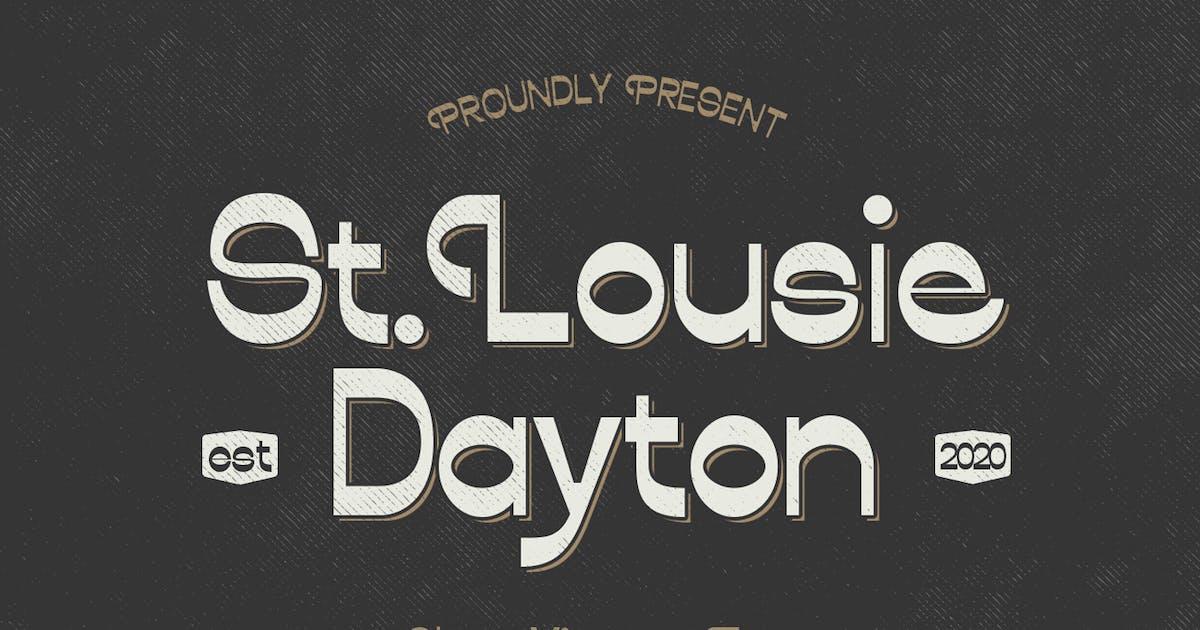 Download Lousie Dayton Font Sans Display by templatehere