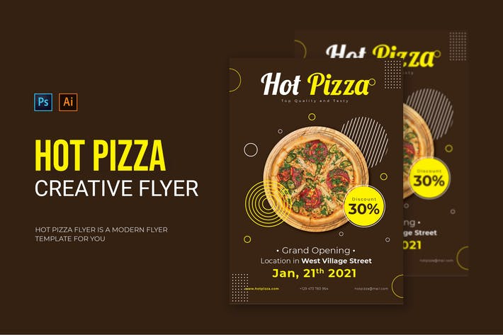 Thumbnail for Hot Pizza - Flyer