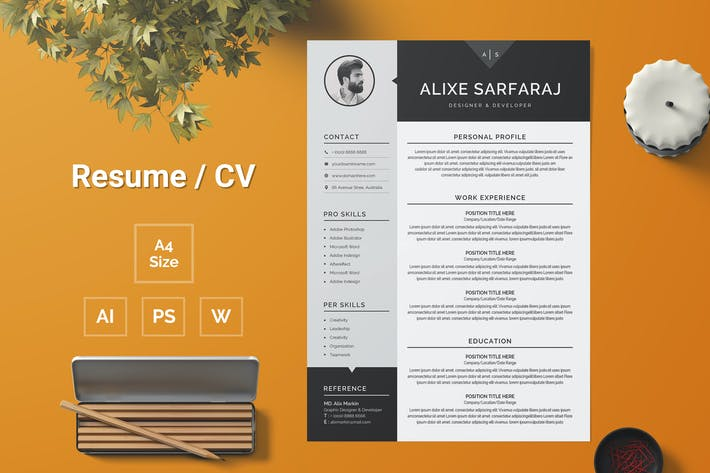 Thumbnail for Resume Template 101