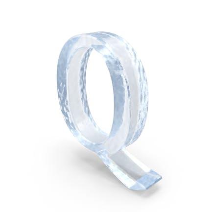 Ice Capital Letter Q
