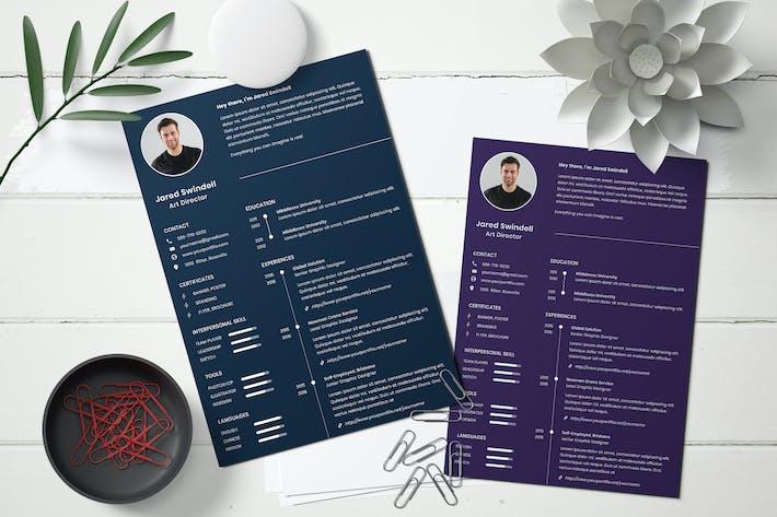 Thumbnail for Business CV Resume Template