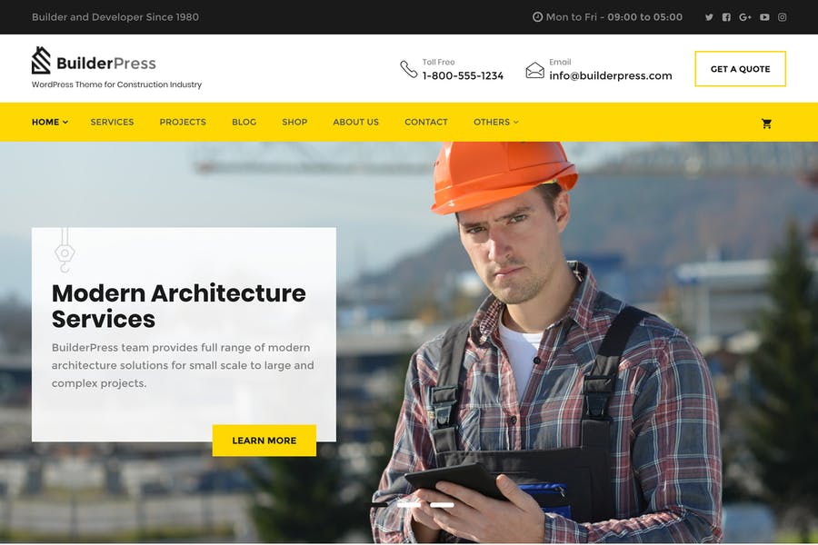 BuilderPress - WordPress Theme for Construction, A