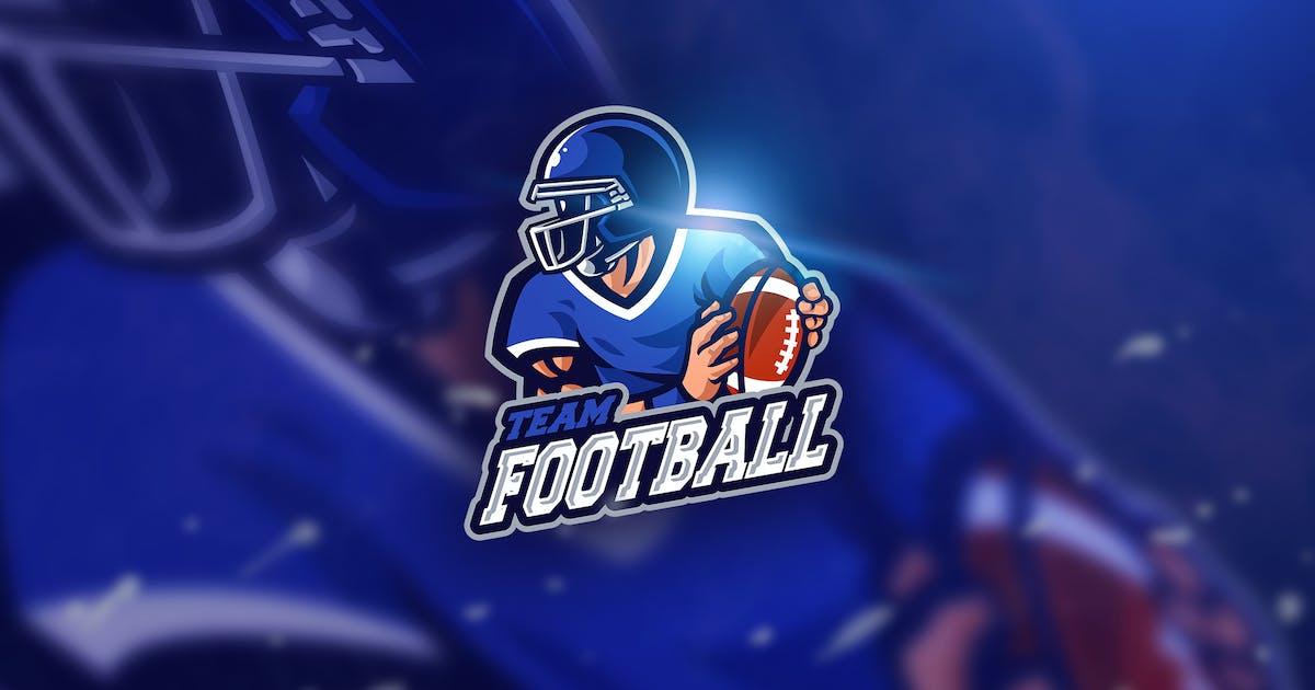 Download Football blue - Mascot & Esport Logo by aqrstudio