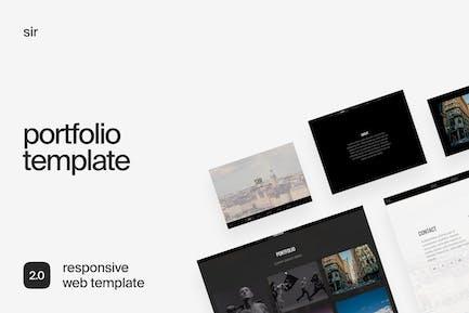 Sir | Responsive HTML Portfolio Template