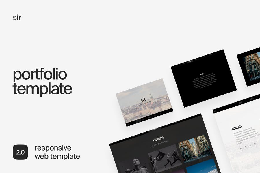 Sir   Responsive HTML Portfolio Template