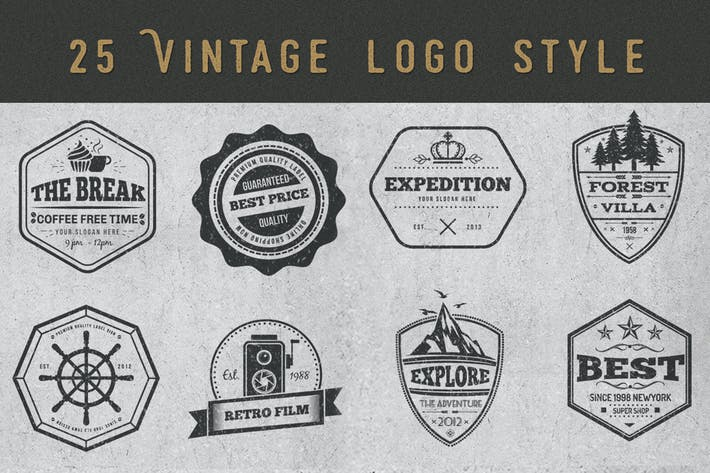 Thumbnail for VintageLogos und Badges Design