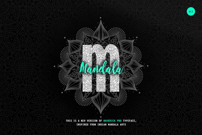 Cover Image For Maverick Mandala - Textured Typeface + WebFont