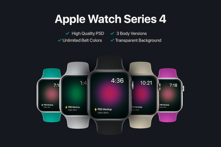 Cover Image For Apple Watch Series 4 Mockup