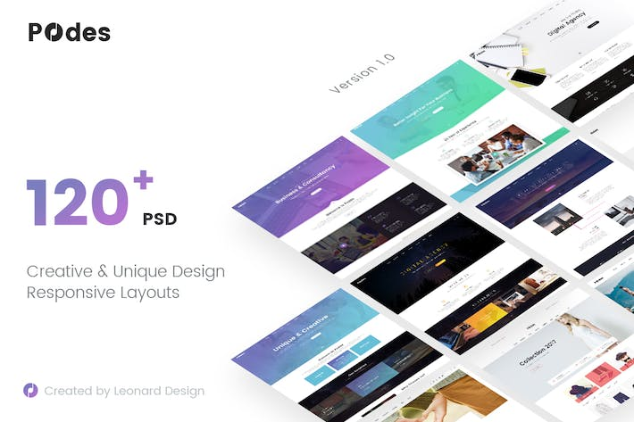 Thumbnail for Podes | Responsive Multi-Purpose PSD Template