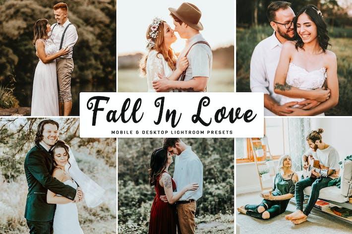 Thumbnail for Fall In Love Mobile & Desktop Lightroom Presets