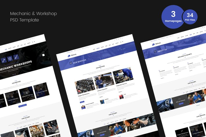 Cover Image For Mechanic PSD Template